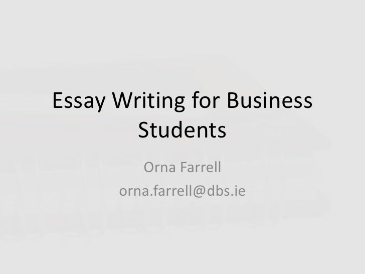 Essay Writing Business 2010