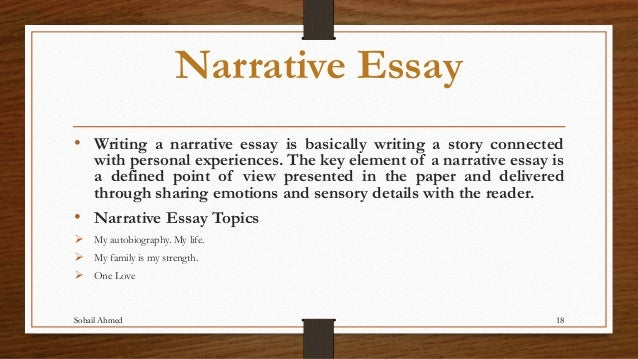 Written Narrative Essay