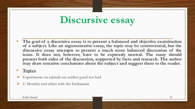 discursive essay topics about animals Winning persuasive essay topics dealing with animals animal-related topics are extremely beneficial for essay writing, because a vast variety of species allows you.