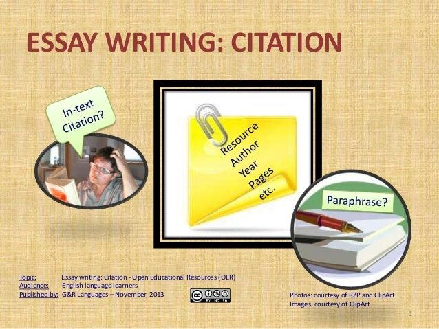 Essay writing: citation