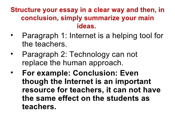 conclusion about internet essay The internet is a social technology, but the effect it has on face to face relationships can potentially be very detrimental like any activity, the internet takes up a person's time the amount of 464 words essay on internet addiction.