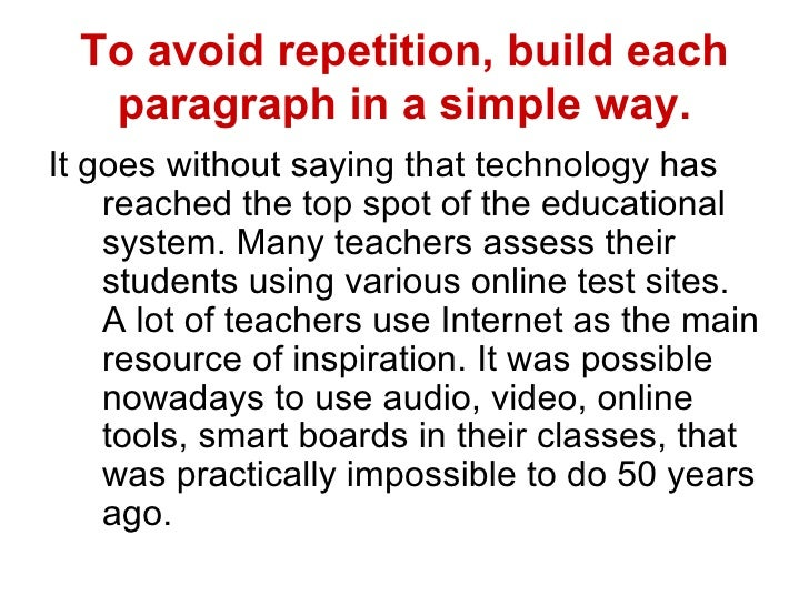 avoid repetition essays