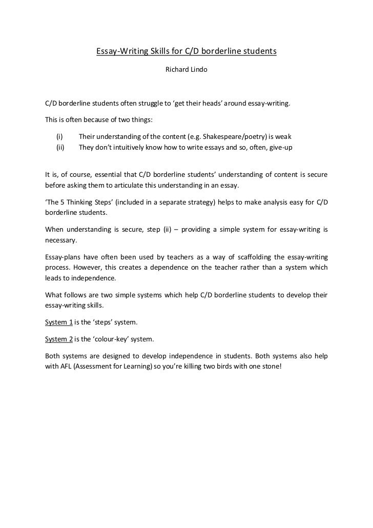 techniques on writing essay This handout will help you determine if an assignment is asking for comparing and contrasting essay, in which you focus techniques in your own pre-writing.