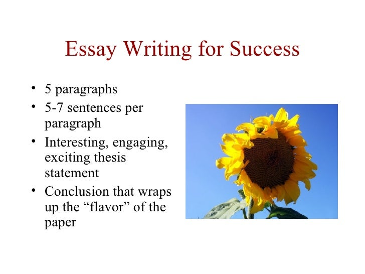 thesis statement for success essay