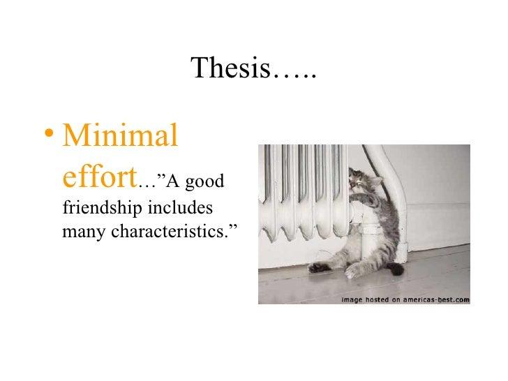 true friendship thesis statement