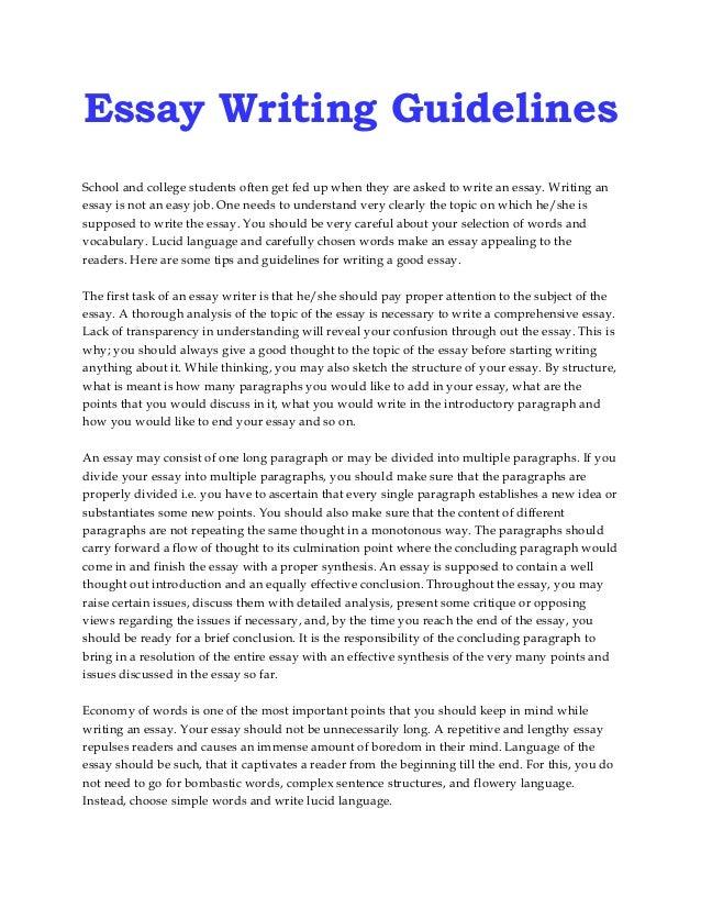 ged essay format