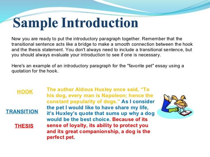 Opening sentence for essay