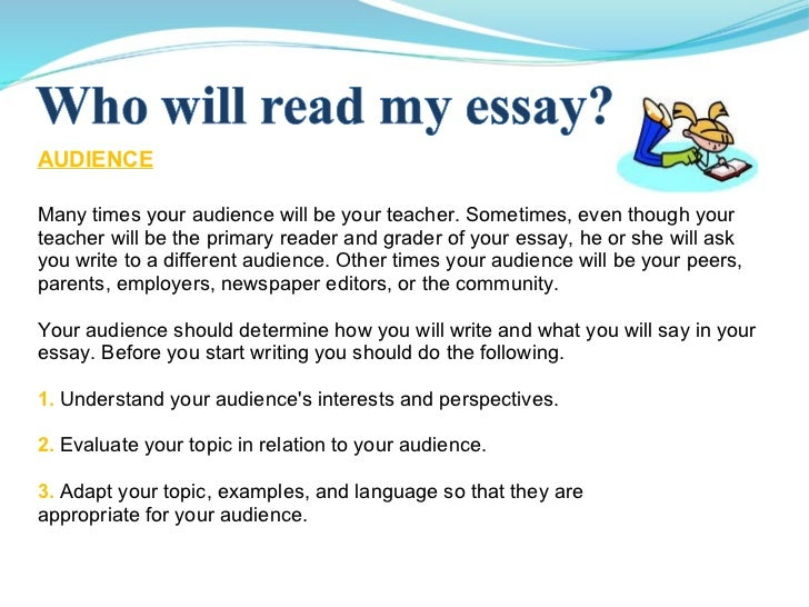 My teacher was talking about my essay. (see details)?