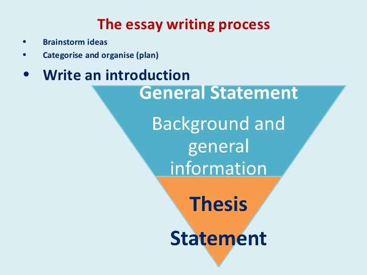 essay process write