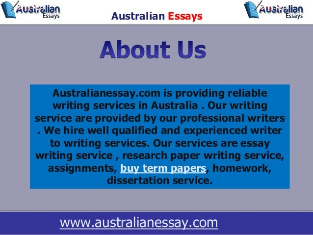 australian essays Ozessay is the best essay writing service in australia hire professional essay writer and get help with any type of assignment online.