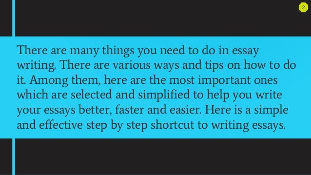 shortcut to success essays