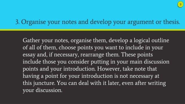Effective argument essay