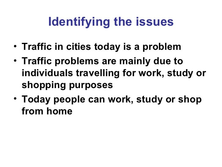 traffic jam solution essay outline