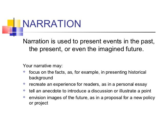 essay writing narrative form