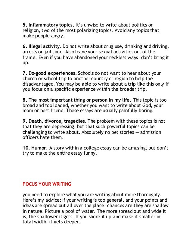 best college essay prompts