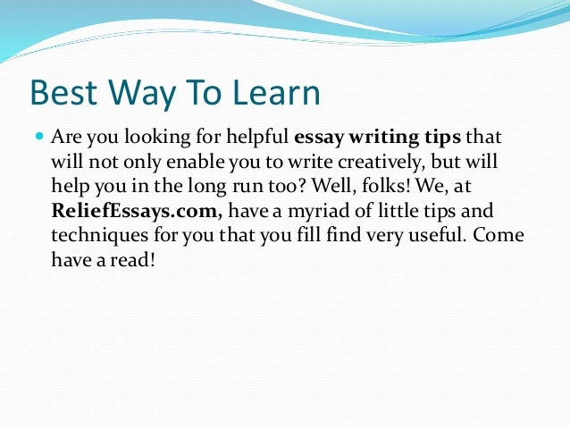 Ways To Write An Essay