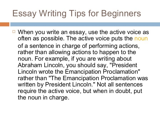 voice in essay writing