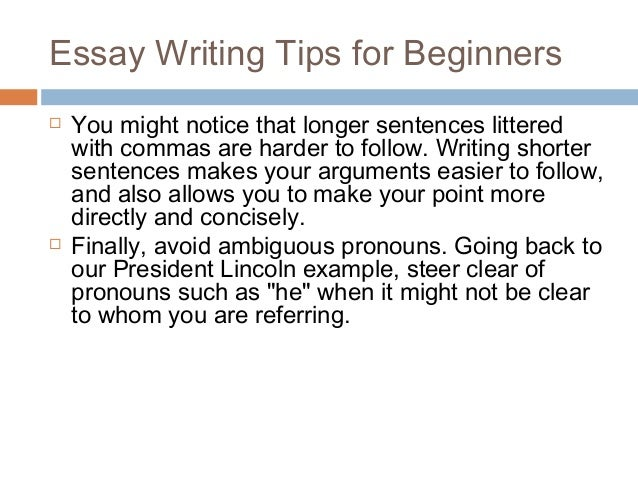 essay writing tips for beginners