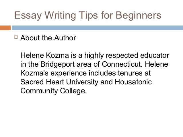 Tips for Essay Writing?