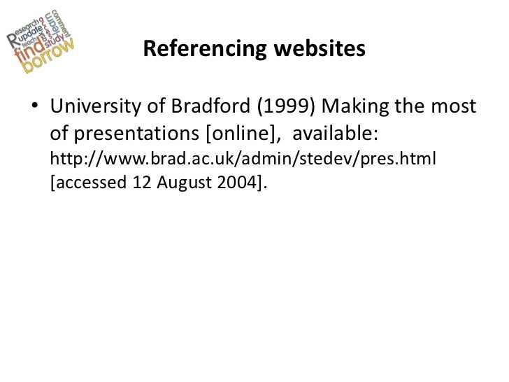Referencing and bibliographies � University of Leicester