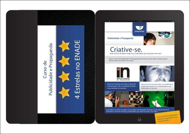 iPad                                               8:35 PM                           4 Estrelas no ENADEPublicidade e Prop...