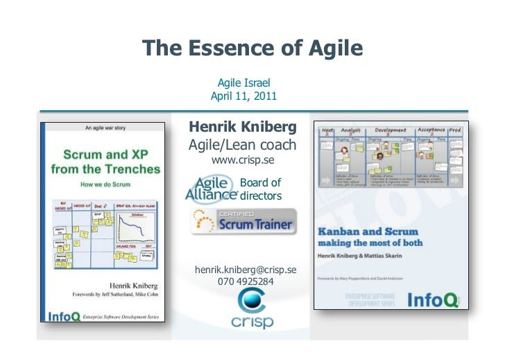 Henrik Kniberg - Essence of Agile