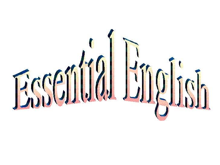 Essential English