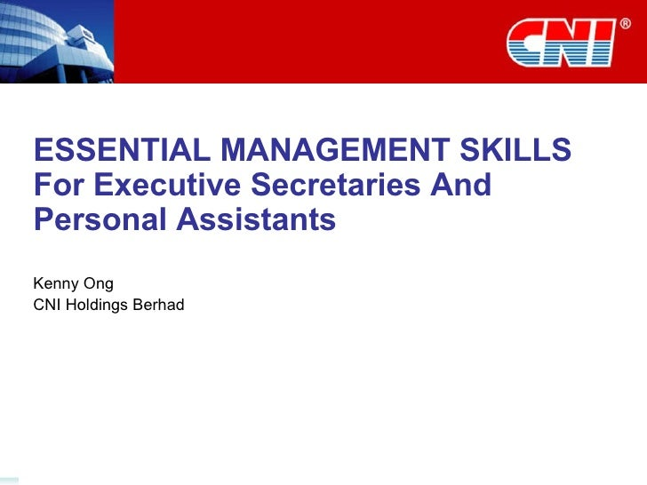Essential Management Skills for Executive Secretaries and Personal Assistants - ABF Secretaries Conference