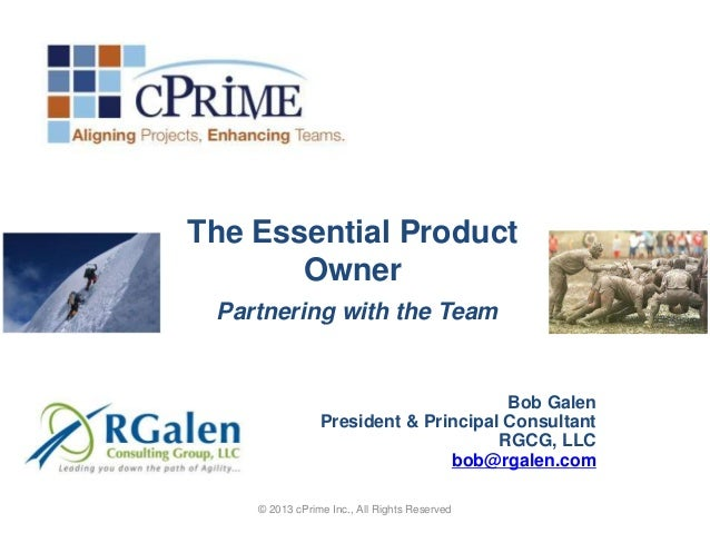 The Essential Product       Owner Partnering with the Team                                      Bob Galen                P...