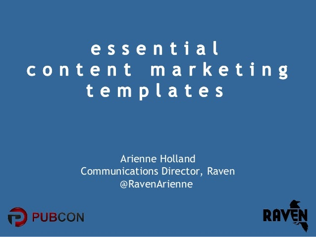 Essential Content Marketing Templates