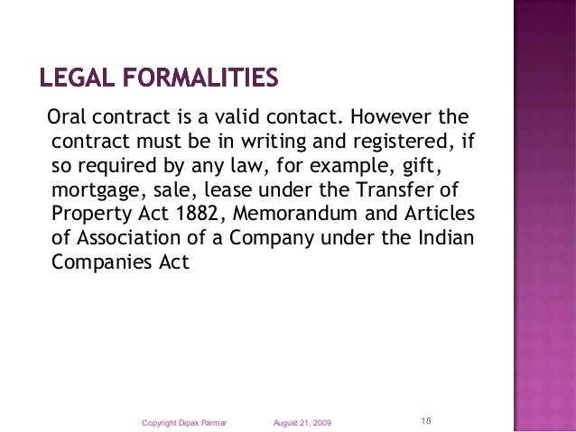 Ten Essential elements of a valid contract – Essay