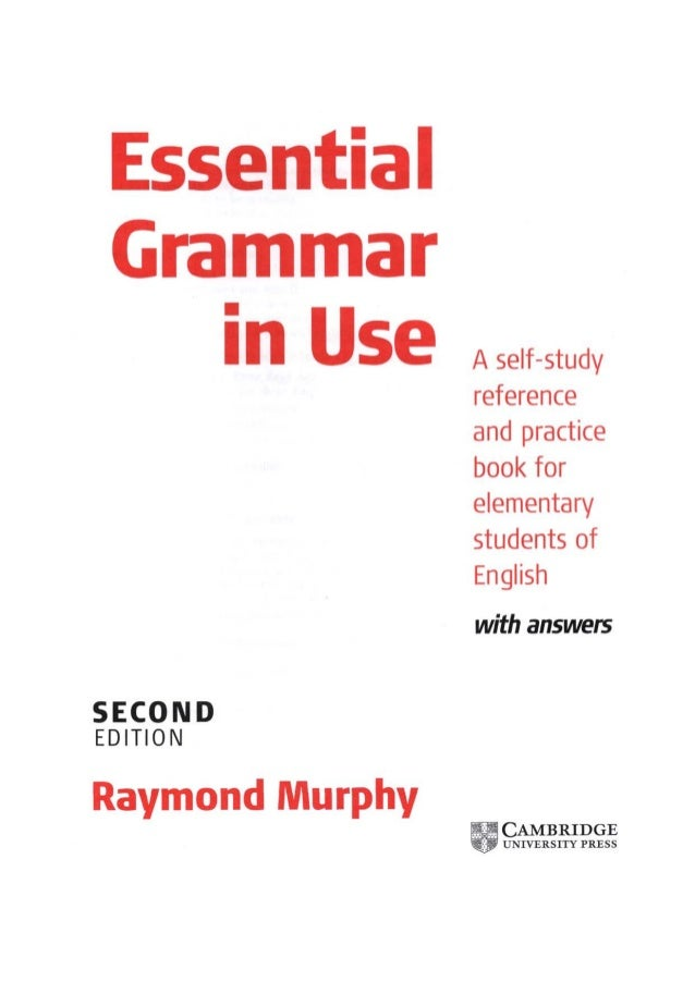 Essential grammar in use second edition