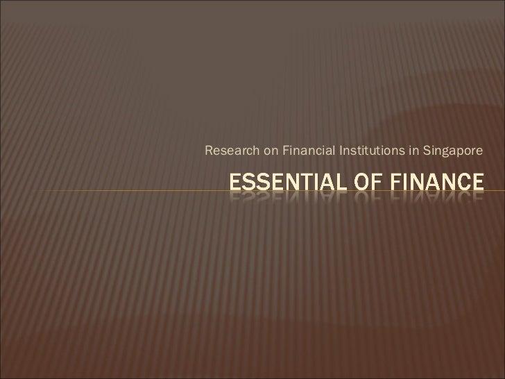 Essential of finance ca1