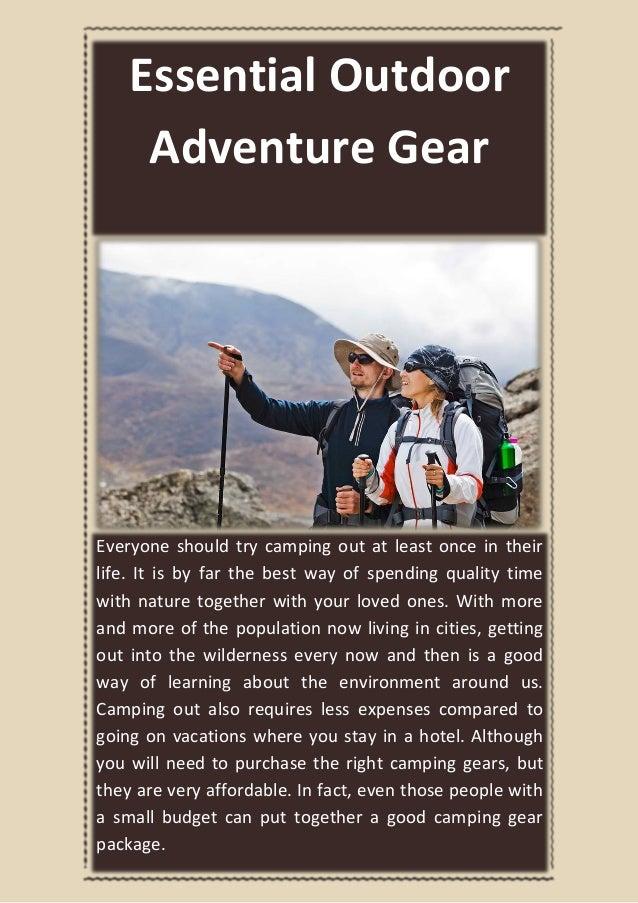 Essential Outdoor Adventure Gear
