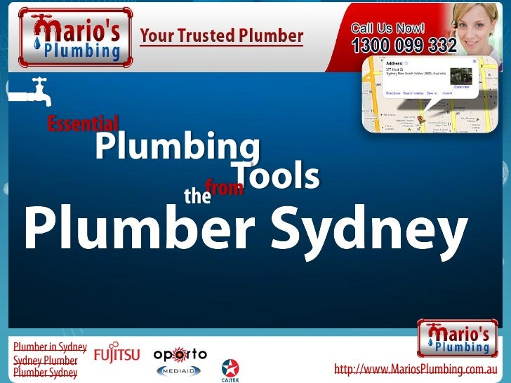 PIumber Sydney - Essential Plumbing Tools from the Plumber Sydney