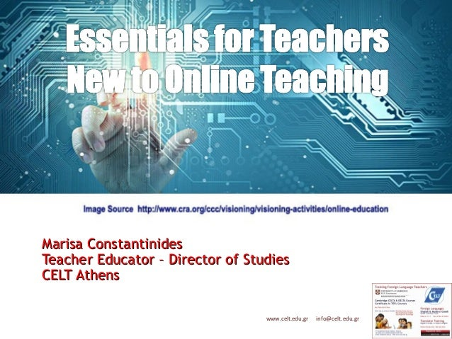Essentials for Teachers New to Online Teaching