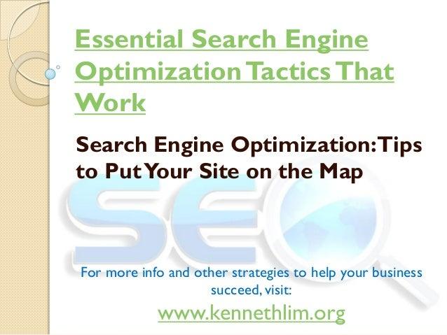 Essential search engine optimization tactics that work