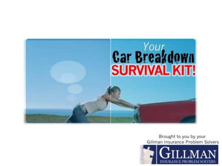 Car Breakdown Survival Kit