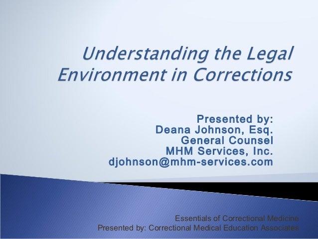 Presented by:           Deana Johnson, Esq.              General Counsel            MHM Services, Inc.   djohnson@mhm-serv...
