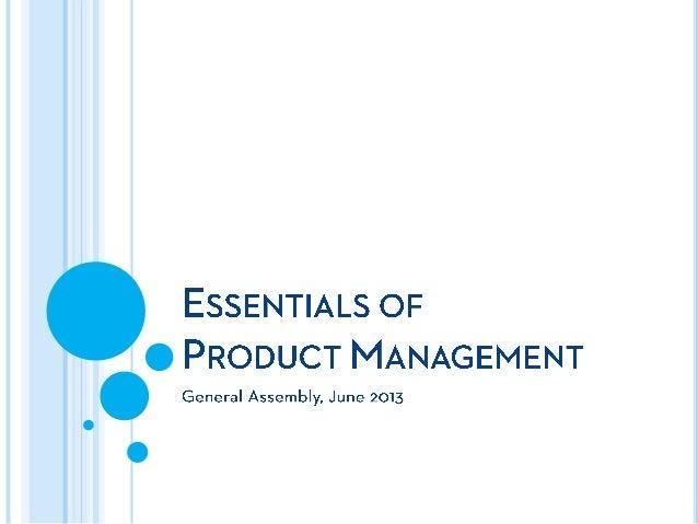 Essentials of Product Management