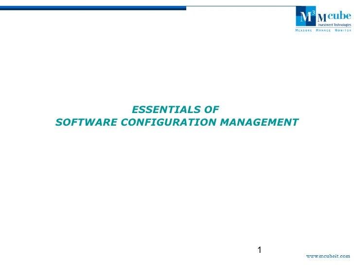 Essentials of scm