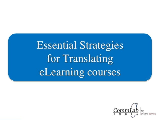 Essential Strategies for Translating eLearning Courses