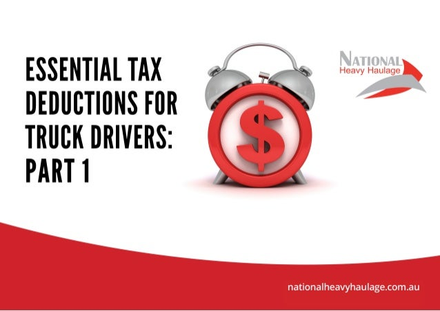 Essential tax deductions for truck drivers part 1 for Tax deductions for home improvements