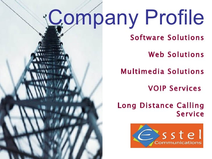 Company Profile Software Solutions Web Solutions Multimedia Solutions VOIP Services  Long Distance Calling Service