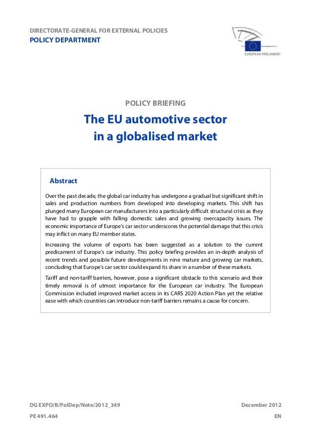 globalised automobile industry Discover all relevant statistics and data on the global automotive industry now on  statistacom.