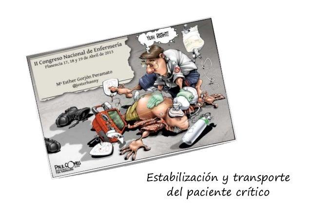 Estabilización del paciente crítico