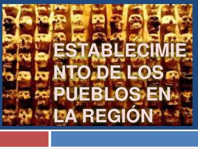 Establecimiento de los pueblos en la región mesoamericana