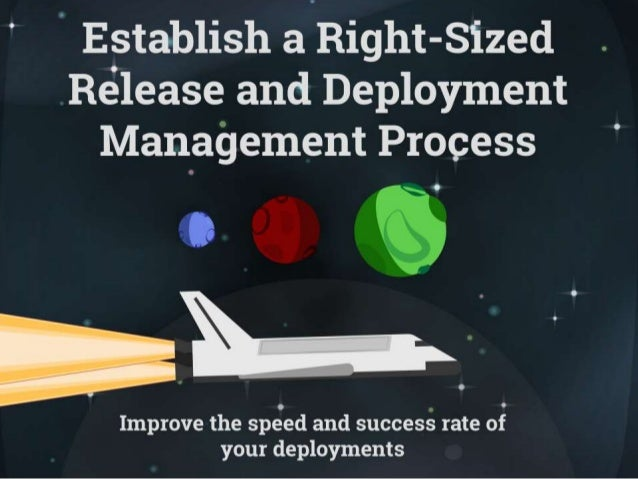 Establish a Right Sized Release and Deployment Management Process
