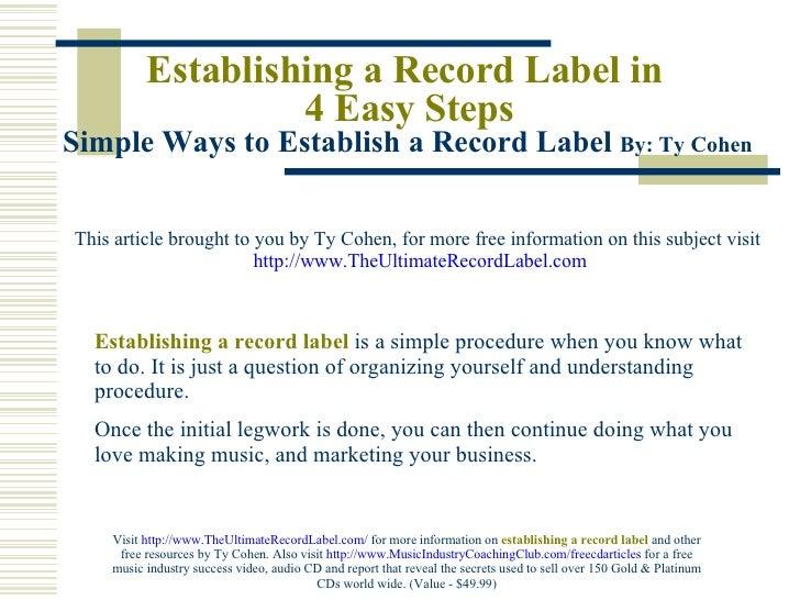 Music Label Business Plan