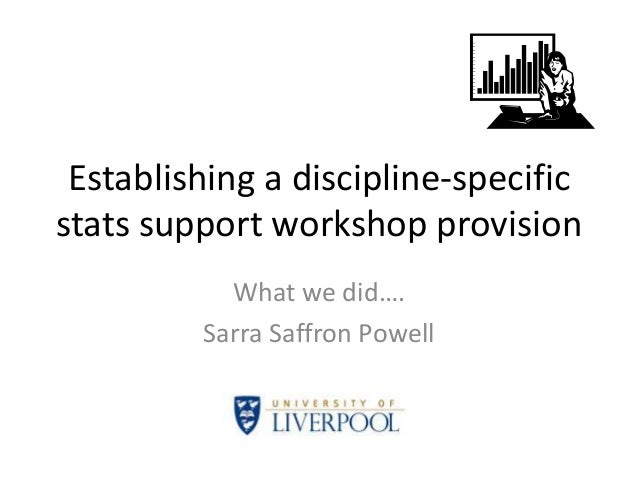Establishing a discipline-specific stats support workshop provision What we did…. Sarra Saffron Powell